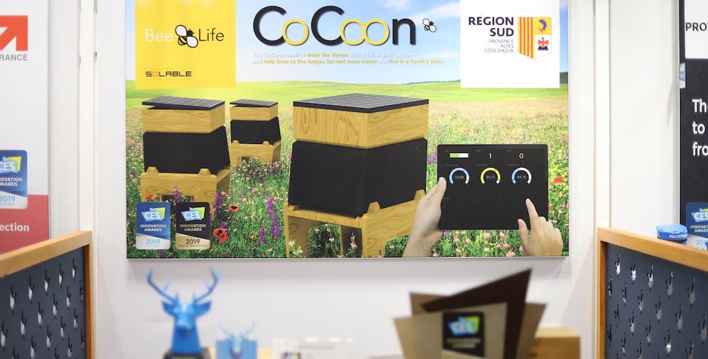 #CES2019 : Beelife présente sa ruche connectée nommée Cocoon qui sauvera les abeilles