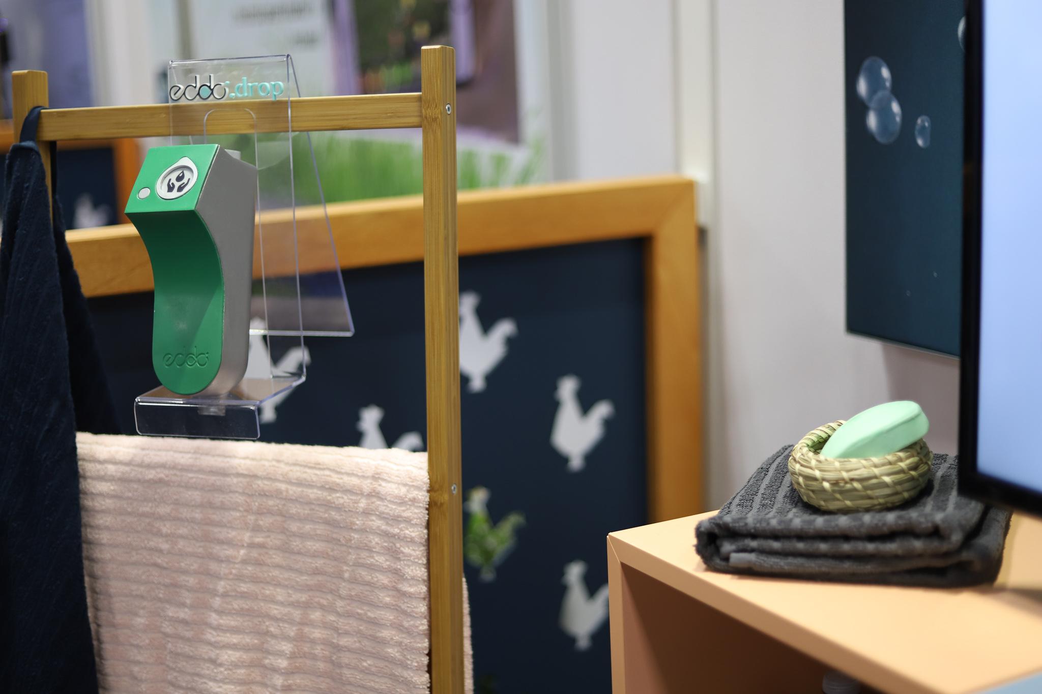 #CES2019 : Réduisez vos factures d'eau et d'énergie avec la commande de douche connectée EddoDrop