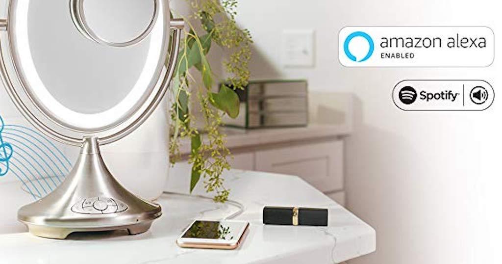 iHome propose Vanity Mirror un miroir de courtoisie intégrant Alexa