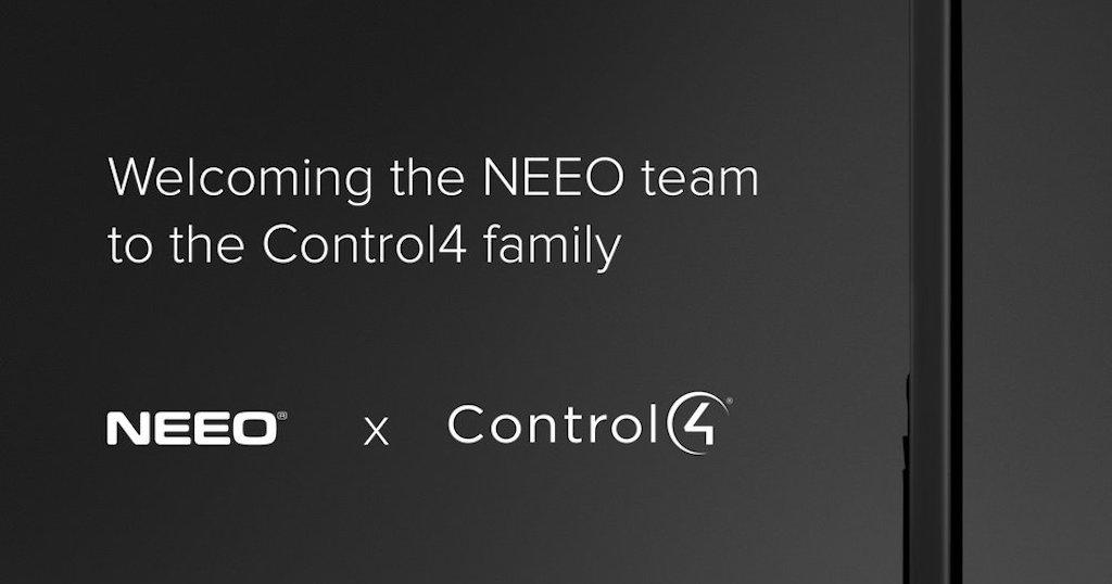 Control4 fait l'acquisition de NEEO et sa télécommande universelle