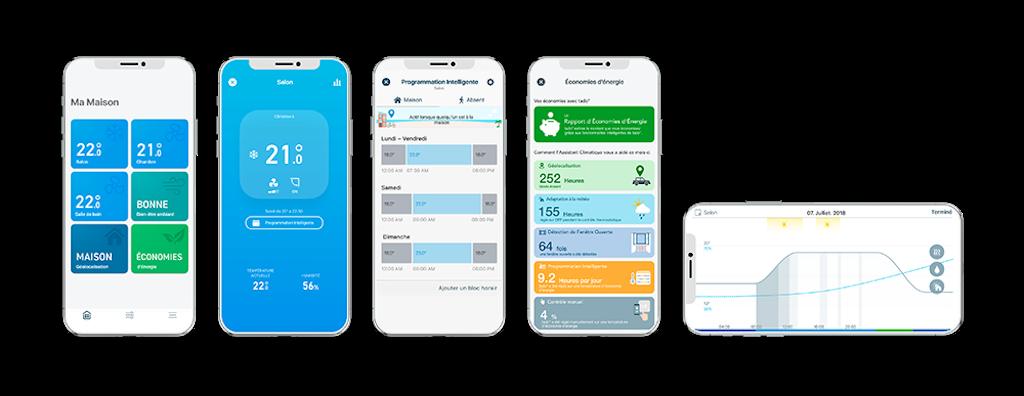 3 tado¯ SmartACControl V3 AppScreen overview FR