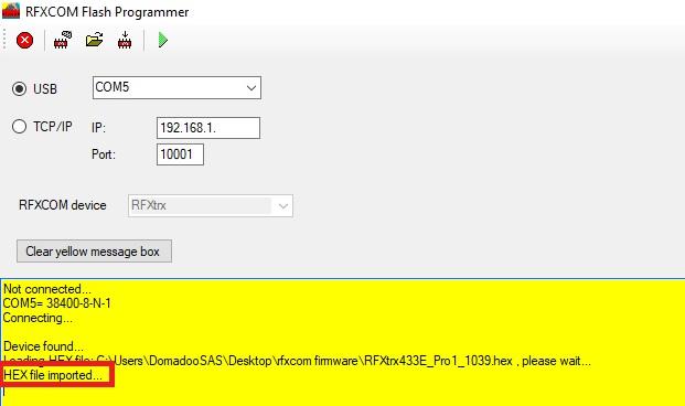 Découvrez comment mettre à jour son dongle RFXcom
