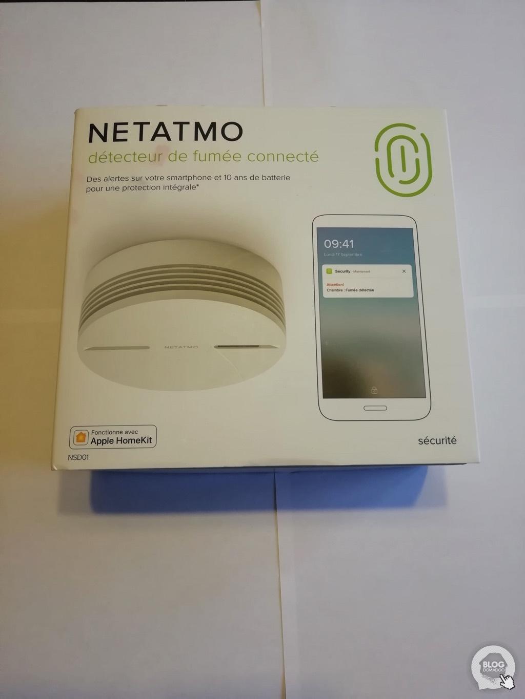 Découverte du détecteur de fumée Netatmo