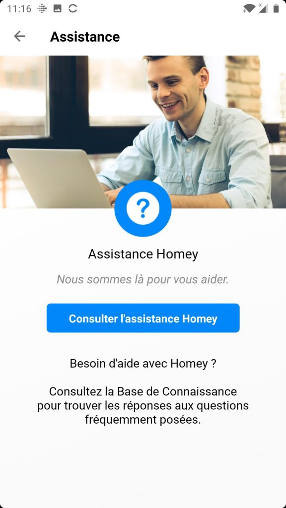 homey app assistance