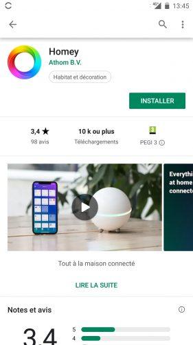 homey app install