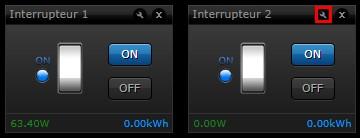 Configuration des interrupteurs