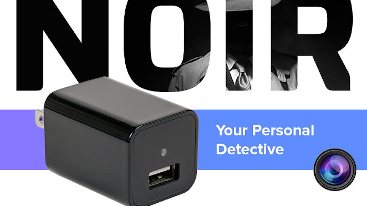 NOIR: la caméra connectée dissimulée dans un chargeur de smartphone
