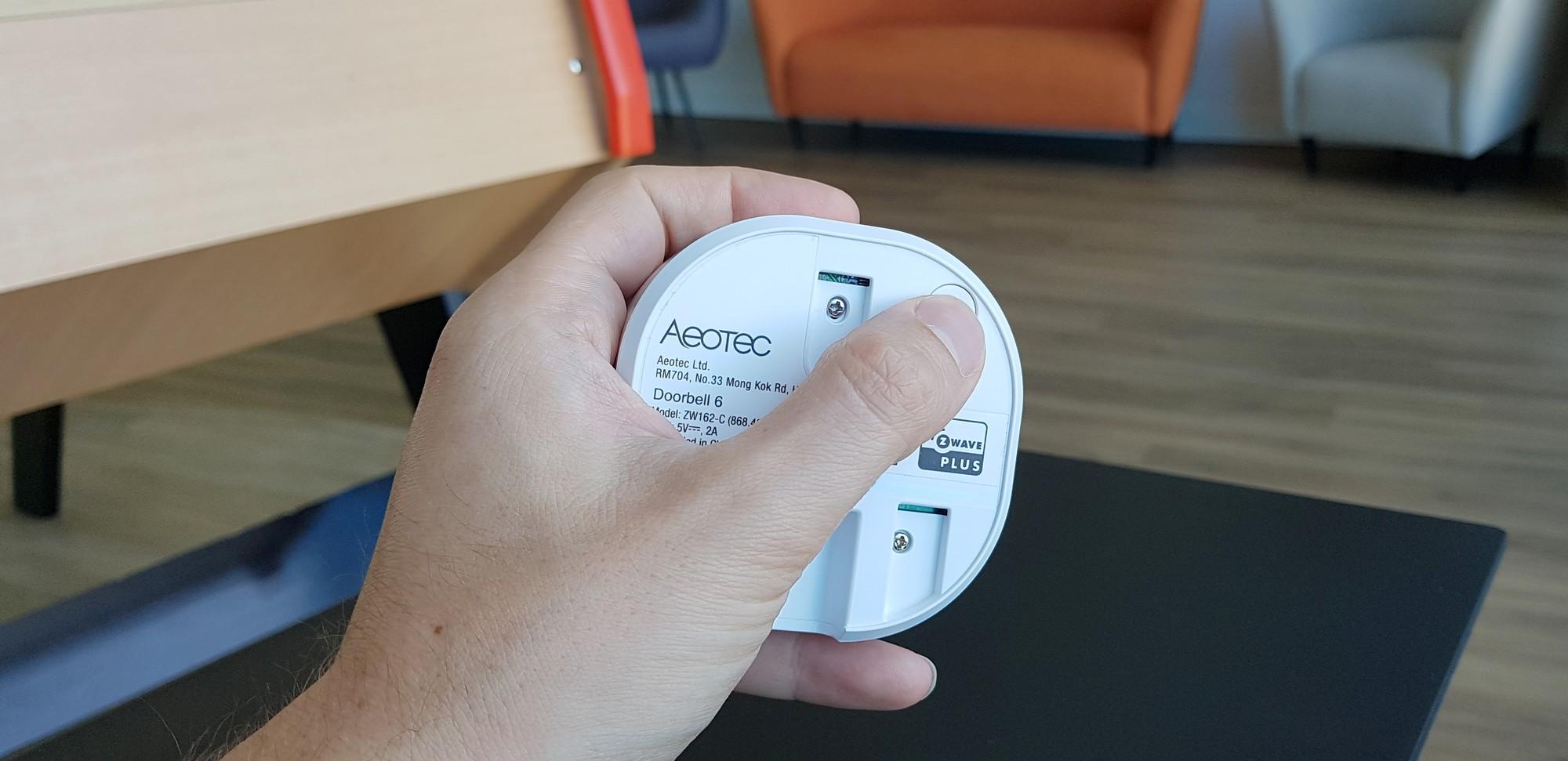 Inclusion de la sonnette connectée Aeotec