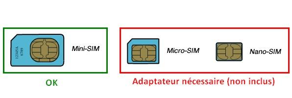 Type de carte SIM nécessaire pour une installation domotique sans connexion internet filaire