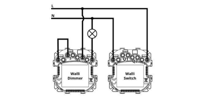 Utilisation du neutre uniquement sur le Walli Switch