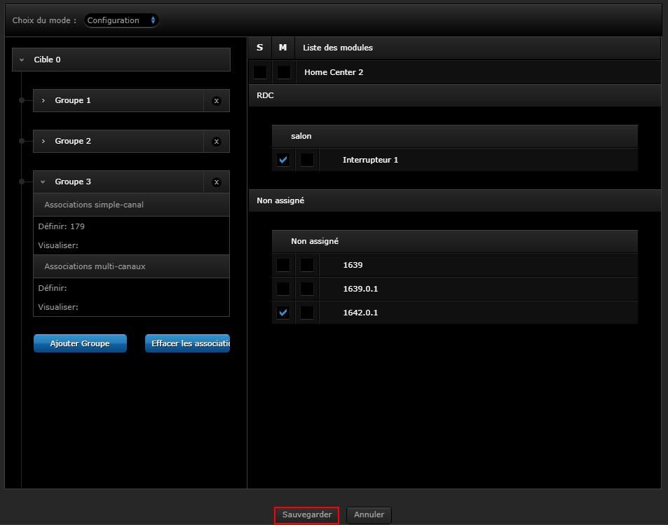Configuration du va et vient variateur intelligent sur l'interface Fibaro