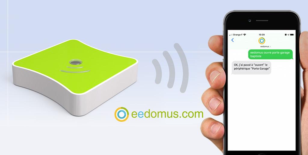 La box domotique eedomus supporte désormais le pilotage par SMS