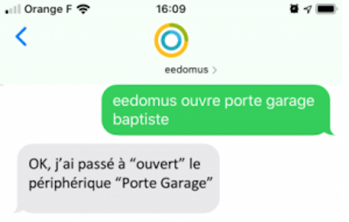 eedomus domotique sms