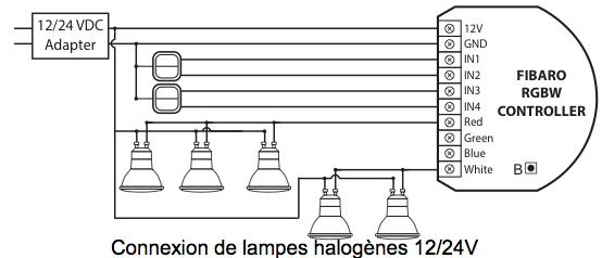 rgbw lampes halogenes 12v 24v