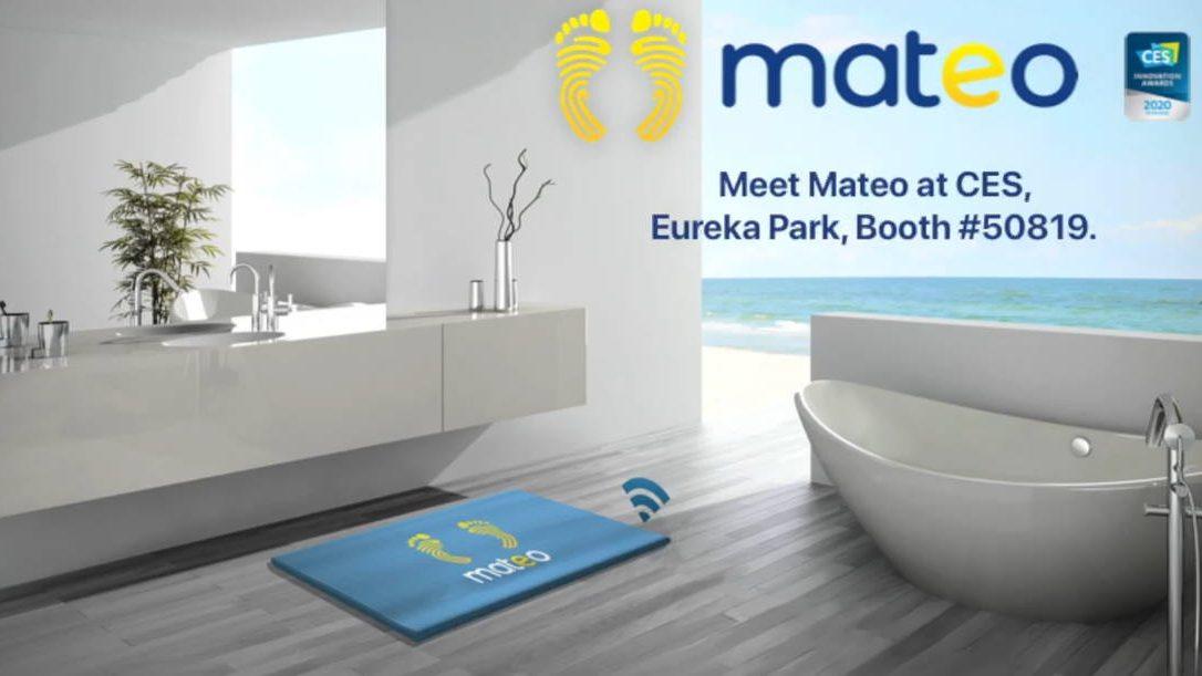 Mateo, le tapis de bain intelligent, présenté au #CES2020