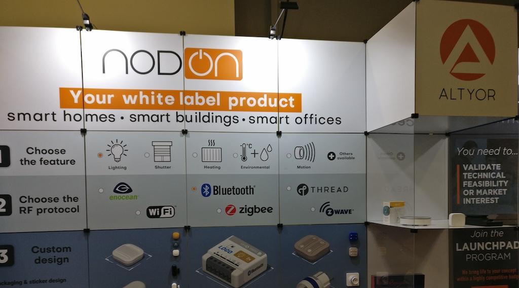 NodOn présente un thermostat et un capteur générique au #CES2020