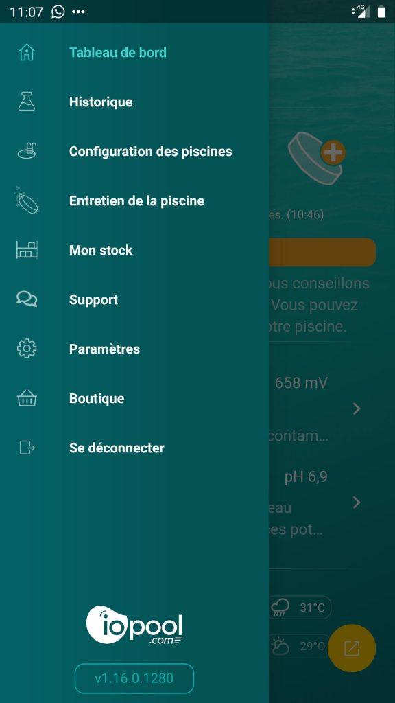 iopool eco app menu