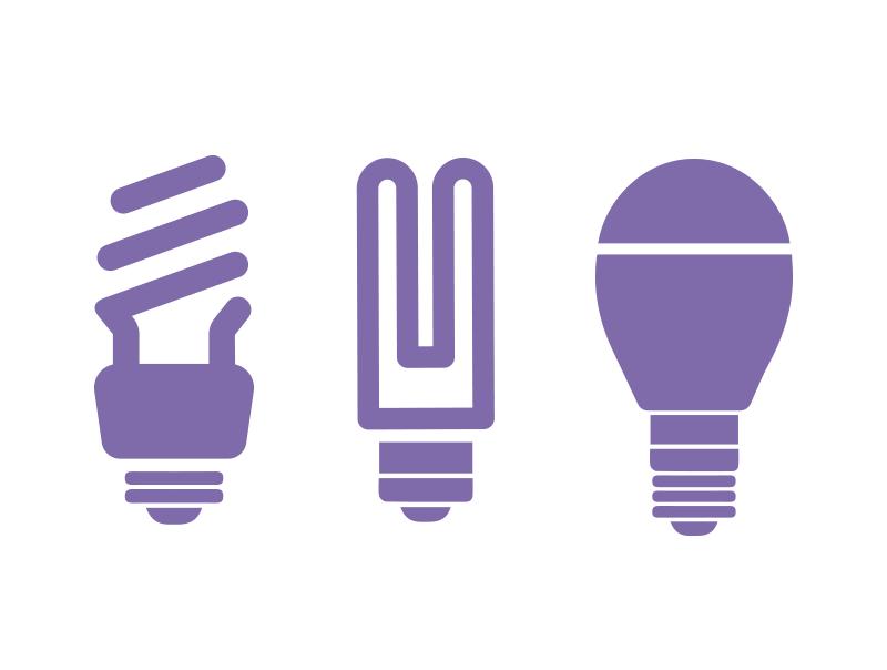 Les variateurs d'éclairage fonctionnent avec différents types d'ampoules.