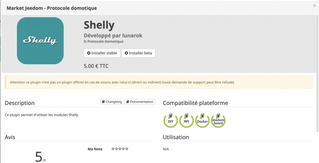 jeedom shelly plugin