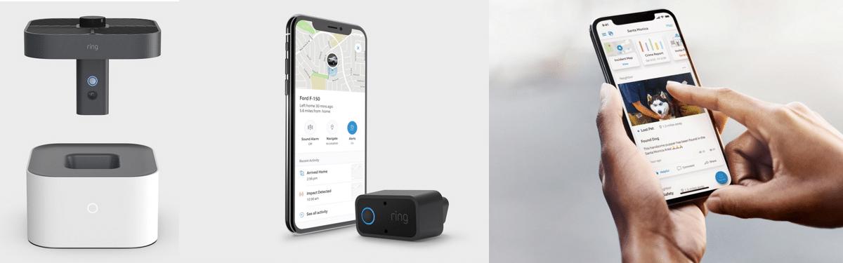 Nouveautés Ring: drone pour la maison, surveillance dans la voiture, et capteur pour boite aux lettres