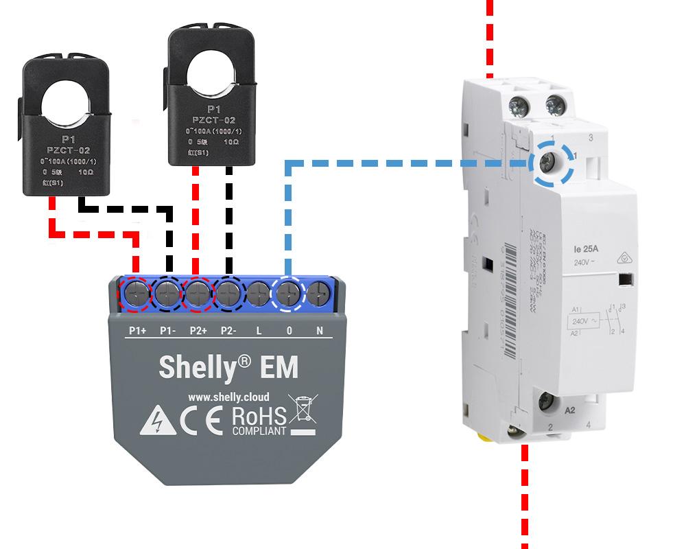 Module Wi-Fi pour mesure de consommation Shelly EM