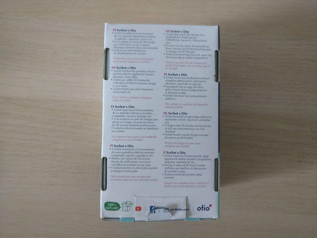 otio surikat packaging back