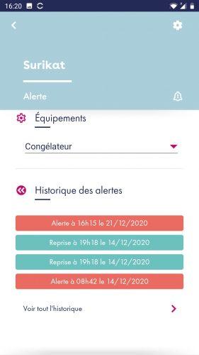 surikat app historique