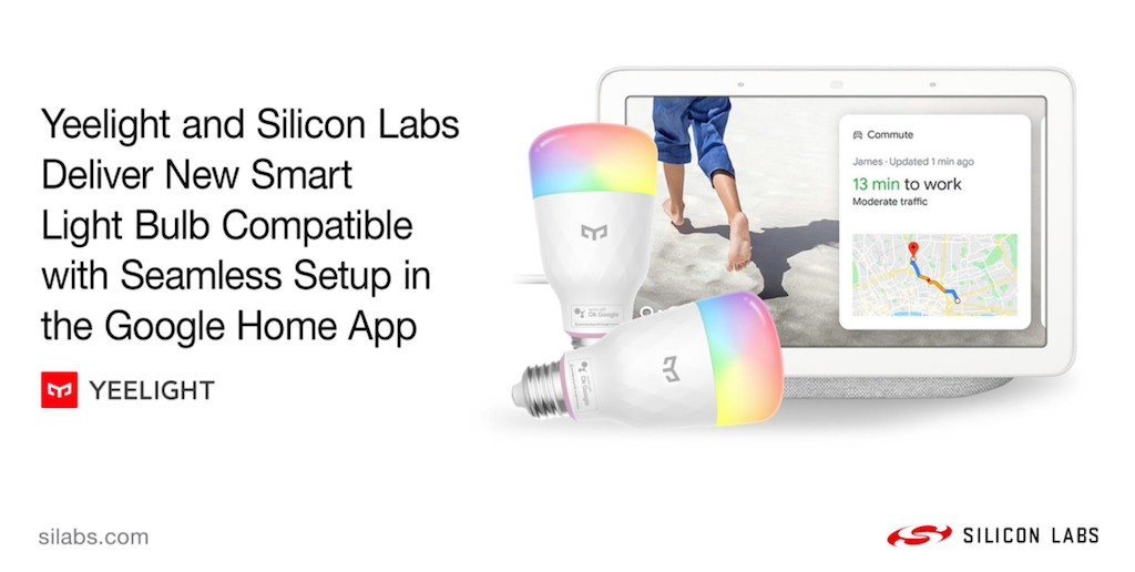 Ampoule Yeelight M2 compatible sans intermédiaire avec Google Home