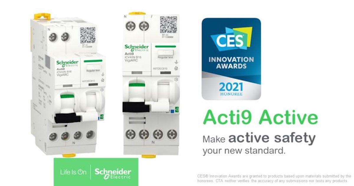 Schneider Electric reçoit un #CES2021 Innovation Award pour son Acti9 Active