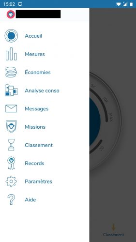 ecojoko app menu