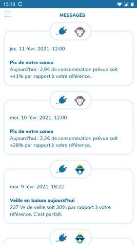 ecojoko app messages