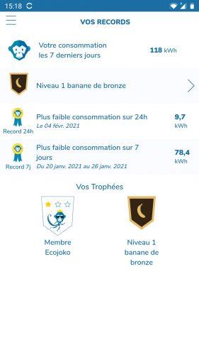 ecojoko app records