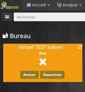 Bouton virtuel Jeedom