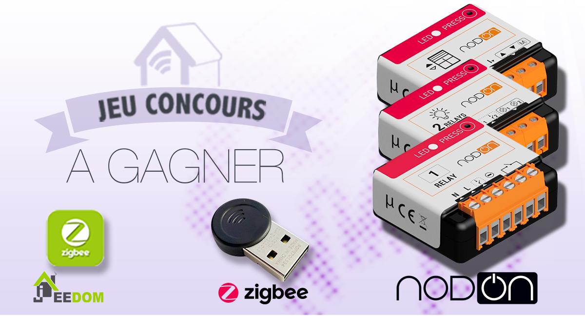 #CONCOURS : 5 Kits complets NodOn et Jeedom pour bien débuter avec le protocole Zigbee à gagner !