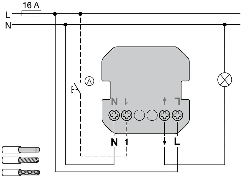 cablage interrupteur zigbee schneider wiser switch