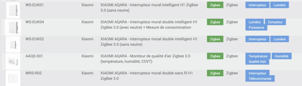 inter aqara jeedom compatibility