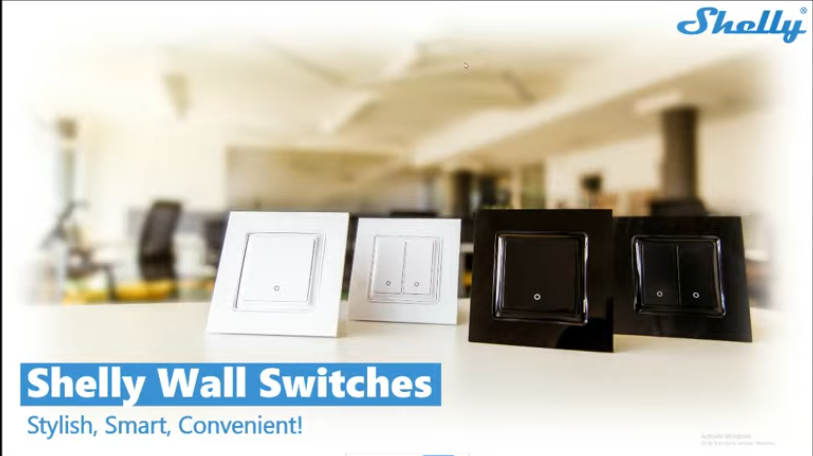 shelly wall switch for smart relay